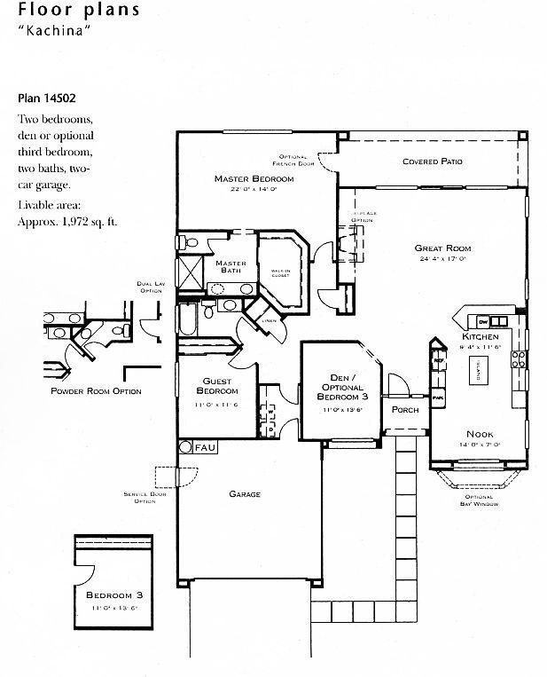 Kachina model floor plan for Floor plan holder
