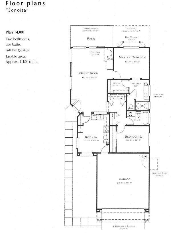 Sonoita model floor plan for Floor plan holder